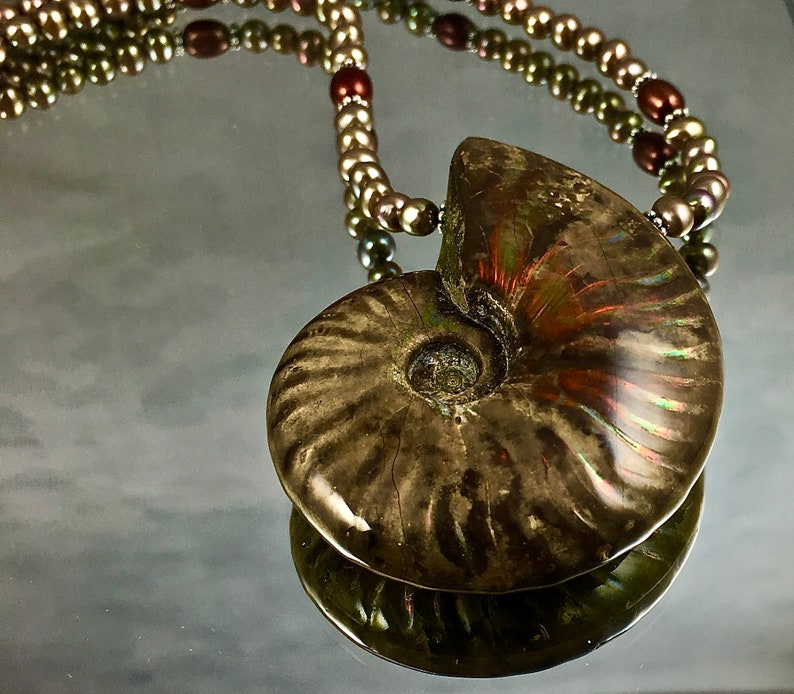ANCIENT SEAS Necklace Ammonite Fossil from Madagascar image 0