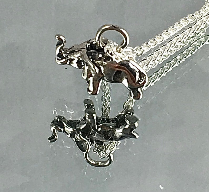 STERLING ELEPHANT PENDANT Good Luck Pendant Sterling Wheat image 0