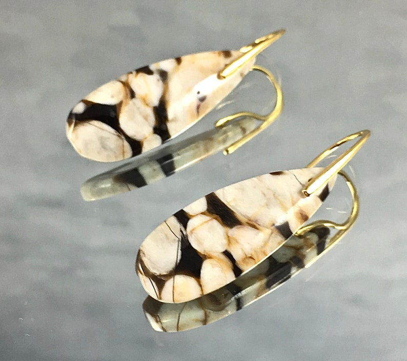 PEANUT WOOD Earrings Petrified Wood from Australia Unique and image 0