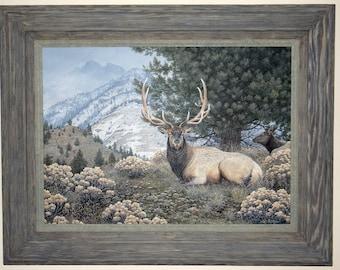 Original Bull Elk Painting