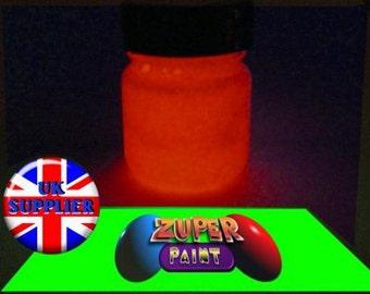PREMIUM Zuperpaint Red Glow In The Dark Paint 30ml