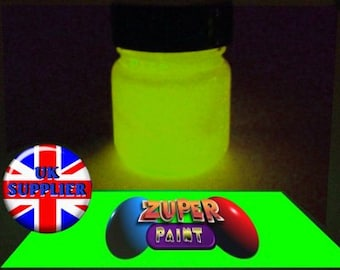 PREMIUM Zuperpaint Yellow Glow In The Dark Paint 30ml