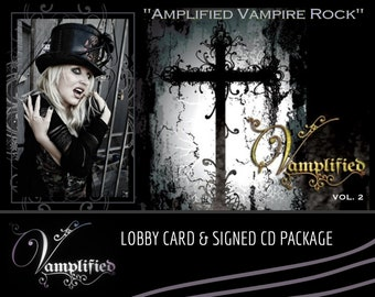 VAMPLIFIED Lobby Card and signed CD Package