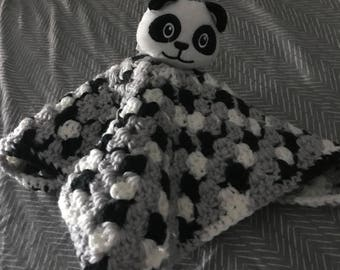 Crochet Panda Lovey for Baby