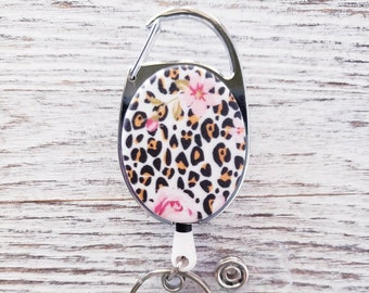 Carabiner Retractable Badge Reel, Backpack accessory, Office Lanyard Clip, Keychain Name Tag Holder, Id Card Key Ring, Belt clip