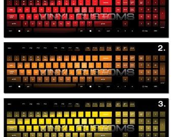af28fed3a4a Mechanical Keyboard Cherry MX Keycaps PC Vinyl Decals Skin - 012 Gradient