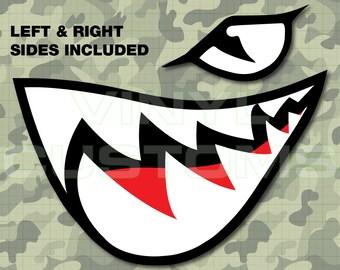 Flying Tigers Vinyl Decal Sticker Shark Teeth Hobby Ww2 Etsy