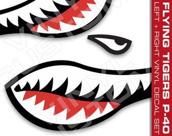Shark Mouth Sticker Etsy