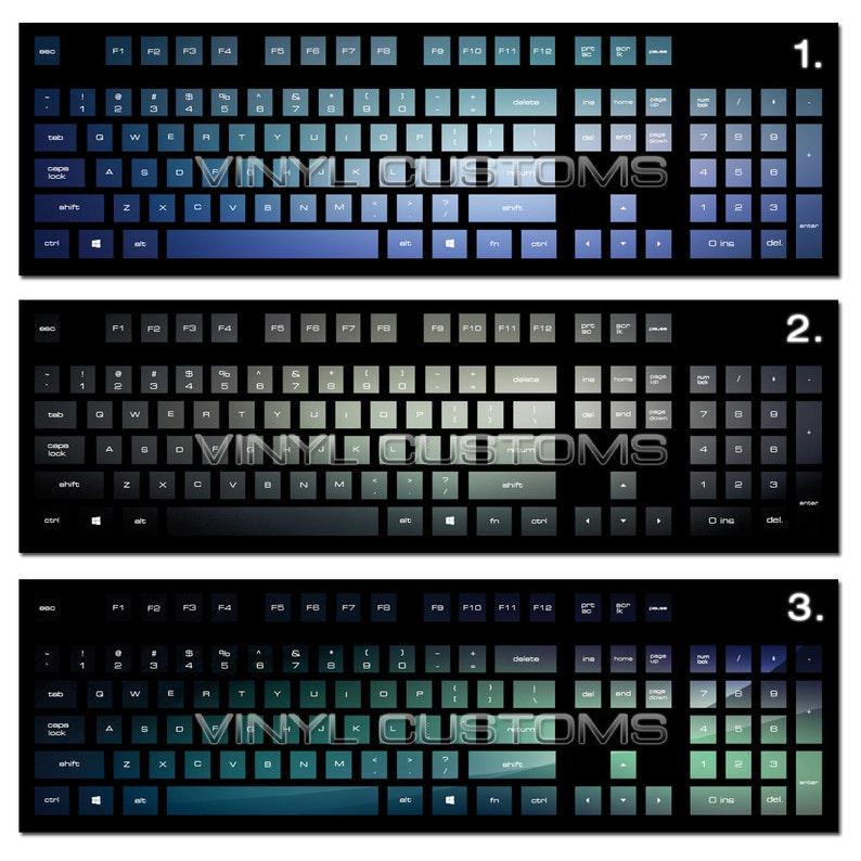 Mechanical Keyboard Cherry MX Keycaps PC Vinyl Decals Skin - Style 003  Gradient