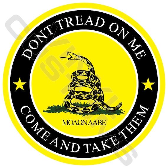Gadsden Snake Don/'t Tread On Me Circle Car or Truck Window Laptop Decal Sticker