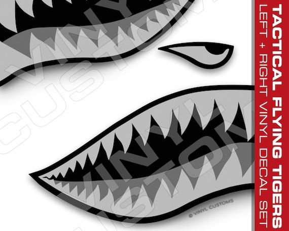 Tiger Shark teeth vinyl  Car Bike Plane