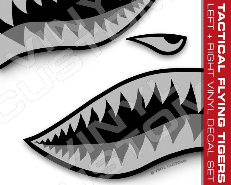 6b81275946 Flying Tigers Vinyl Decal Sticker Shark Teeth Hobby WW2