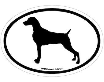 Weimaraner Vinyl Decal Sticker