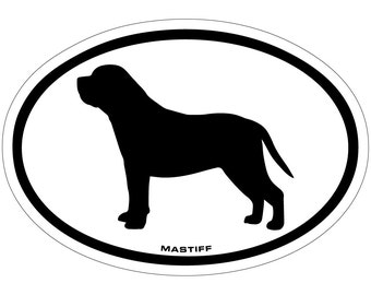 Mastiff Vinyl Decal Sticker