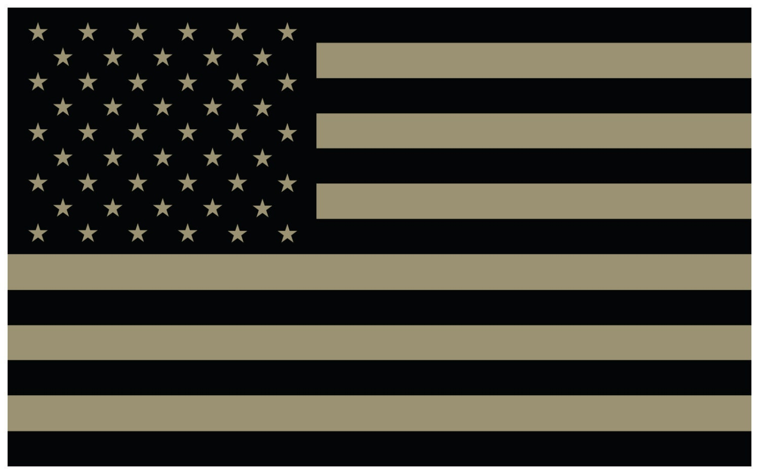 Tan american flag tactical subdued vinyl decal sticker etsy
