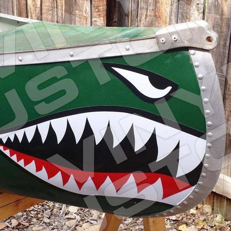 b4ae5aa9ed Flying Tigers Sticker Shark Teeth Decal Set