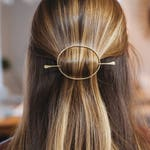Metal Hair Clip - Gold Hair Pin - Handmade Barrette - Great for Bun or Slide Copper