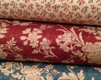 Fabric HALF YARD: Chamberlain - Civil War Floral - by Nancy Gere for Windham Fabrics