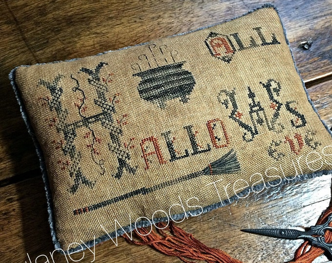 """Pattern: Cross Stitch """"All Hallow's Eve"""" - Dulaney Woods Treasures"""