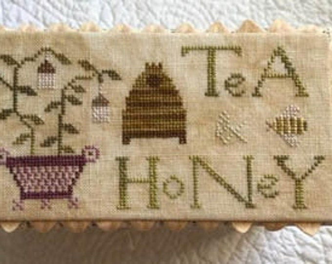 Pattern: The Tea Box - Cross Stitch