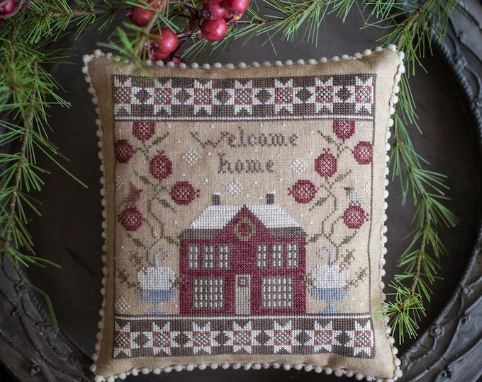 Pattern: Home for Christmas - Cross Stitch  by Plum Street Samplers