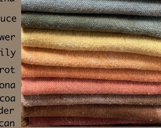 Fabric: FQ Osnaburg Hand-dyed Fat Quarters