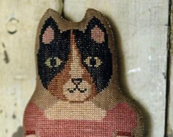 "Pattern: ""Clementine""  - Animal Cracker Series Cross Stitch  by Stacy Nash Primitives"
