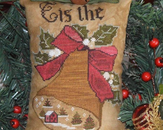 "Pattern: Cross Stitch  ""Tis the Season"" prim pillow - Abby Rose Designs"