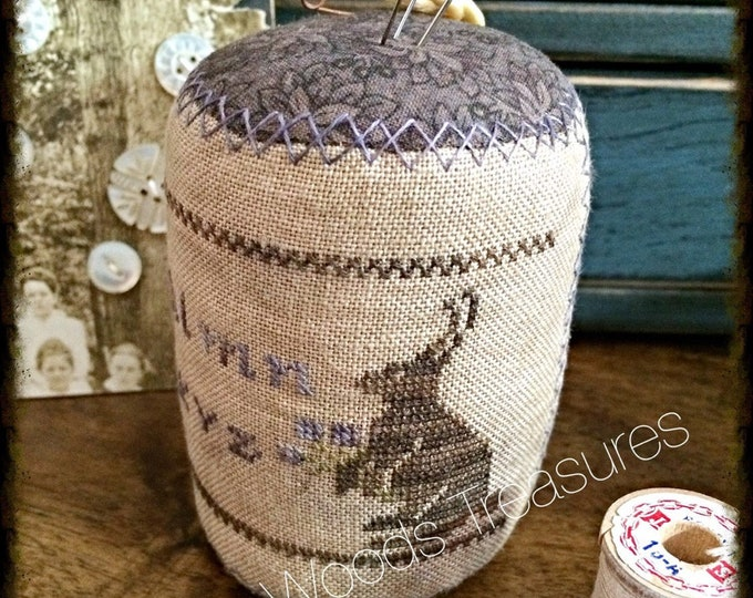 "Pattern: Cross Stitch ""Spring Sampler"" Pinkeep Drum - Dulaney Woods Treasures"