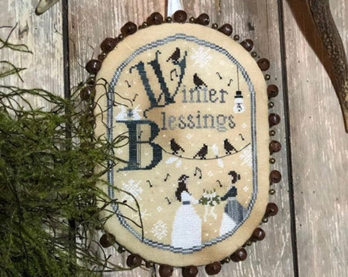 Pattern: Winter Blessings - Cross Stitch - by The Primitive Hare