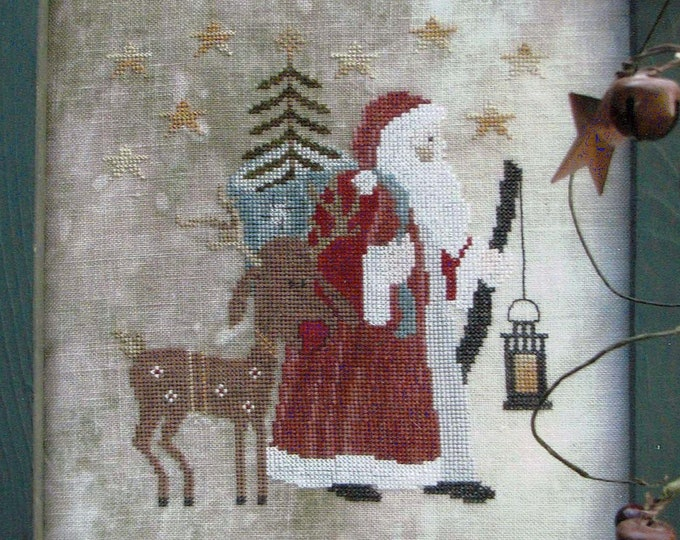 Pattern: Father Winter Cross Stitch by Thistles