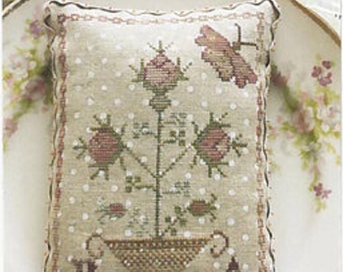 "Pattern: ""My Pink Rose"" - Cross Stitch  by Blackbird Designs"