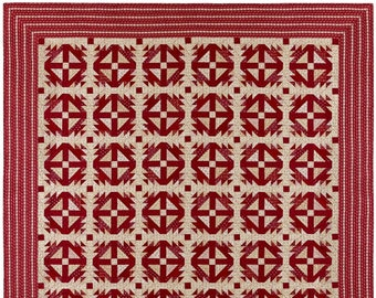 Pattern: Banks' Retreat Quilt Pattern by Red Crinoline Quilts