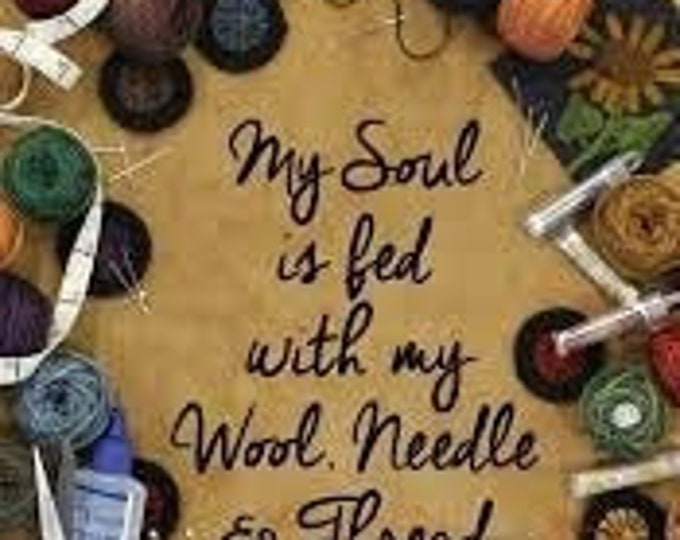 Thread Organizing Booklet: My Soul is fed with my Wool, Needle & Thread by Lisa Bongean for Primitive Gatherings