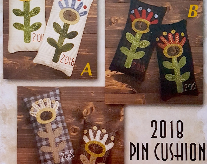 "Kit and Pattern: ""2018 Pin Cushion"" by Lisa Bongean for Primitive Gatherings"