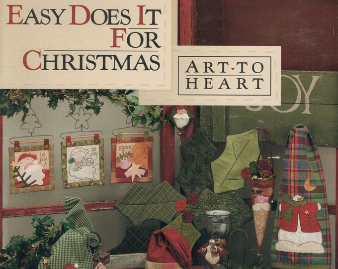 "Pattern Book: ""Easy Does it for Christmas"", by Nancy Halvorsen of Art to Heart"