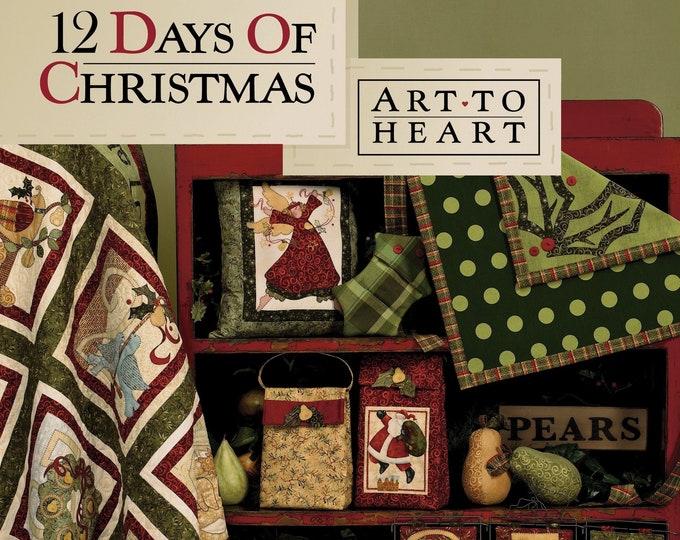 "Pattern Book: ""12 Days of Christmas"", by Nancy Halvorsen of Art to Heart"