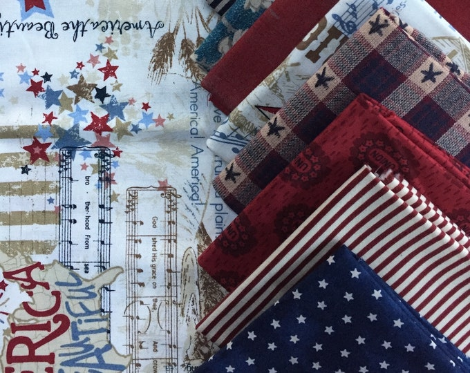 Fabric: FQ 12 pc Bundle - Fat Quarter Cotton & Homespun