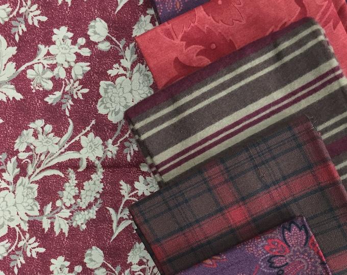 Fabric: FQ 8 pc Bundle - Fat Quarter Cotton & Flannel