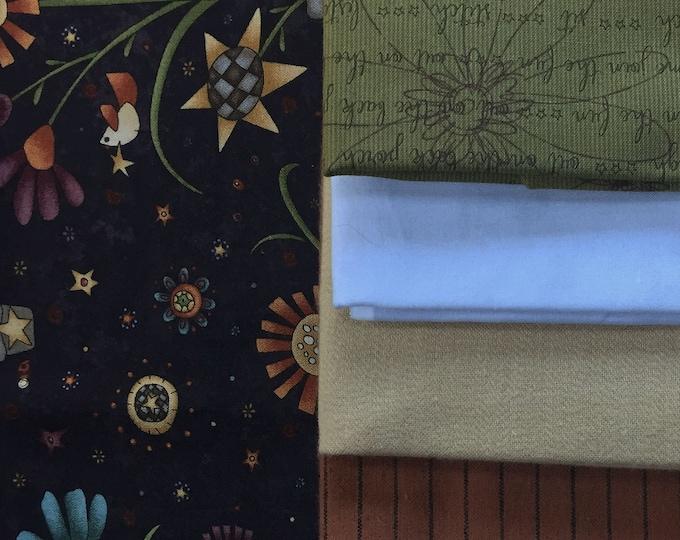 Fabric: Half YD 7 pc bundle - Cottons & Homespuns