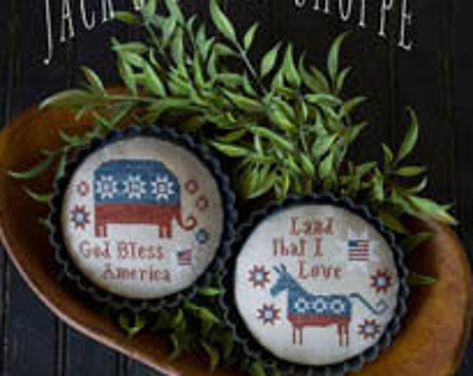Pattern: Jacks Sweet Shoppe - Party Tarts Cross Stitch by Plum Street Samplers
