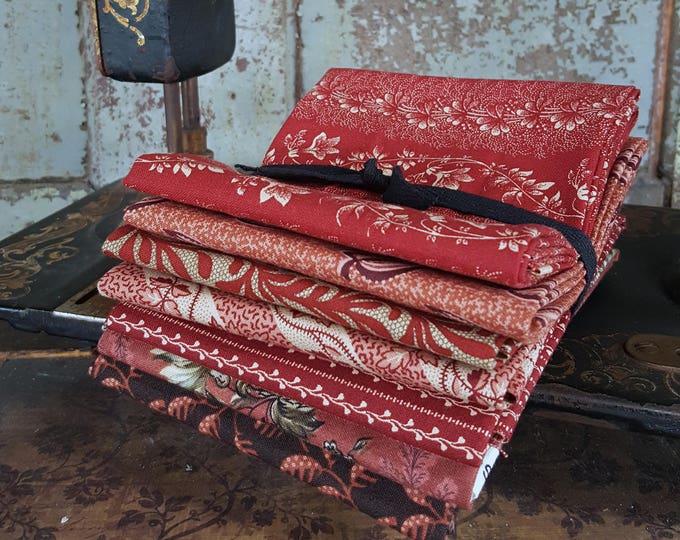 Fabric: Bundle FQ 7pc - Civil War Reds