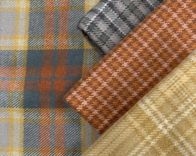 "Flannel: FQ Bundle - "" Summer Hay Fields""-  4 pc. Primo Plaids Flannel Collection"