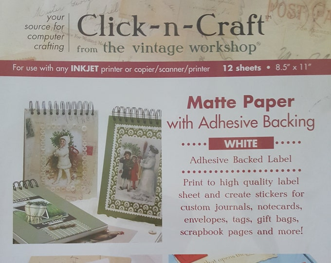 Notions: Click ~n~ Craft Matte Paper from the Vintage Workshop