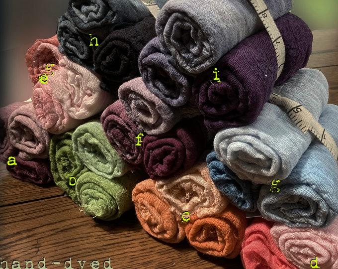 Fabric: Hand-dyed Cheesecloth Gradation Half Yard 3pc Bundles
