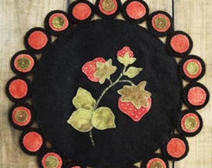 """Pattern: """"Strawberry Fields"""" Wool Applique by Lake View Primitives"""