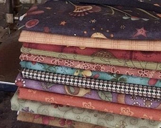 "Fabric: Bundle FQ - ""Autumn Folk Art"" Collection"