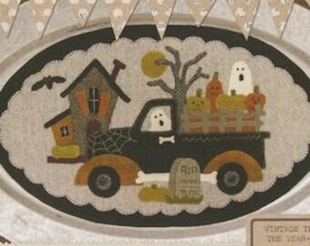 """Pattern: Vintage Truck Thru the Year - October """"Halloween"""" by Buttermilk Basin"""