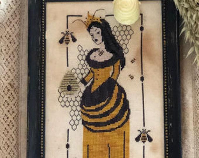 Pattern: Melissa Cross Stitch - by The Primitive Hare