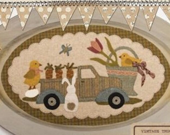 "Pattern: April Vintage Truck Thru the Year - ""Bunny, Chicks, Carrots & More"" by Buttermilk Basin"